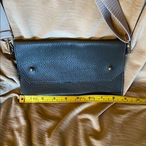 Convertible leather belt bag